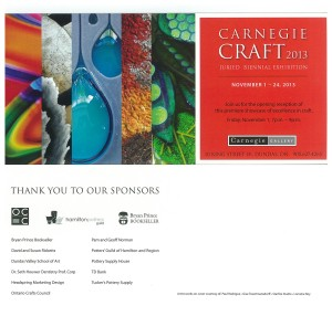 CARNEGIE CRAFT 2013 November 1 – 24, 2013